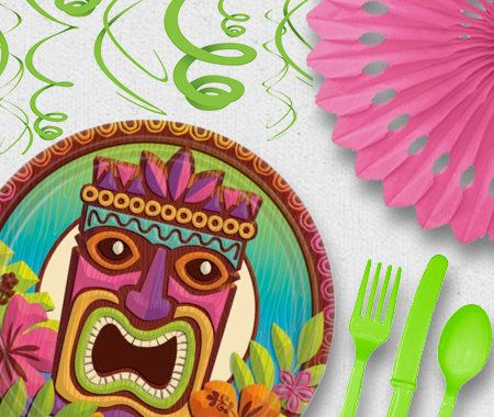 Adult, Party, Novelty, Tiki, Luau, Cutlery, Tableware
