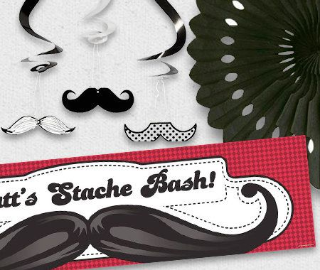 Adult, Birthday, Party, Celebration, Decorations, Mustache Party