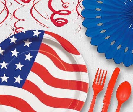 Party Themes, Patriotic, 4th of July, President's Day, America, Cutlery, Decorations