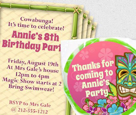 Summer, Luau, Party, Personalization