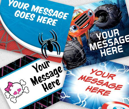 Personalization, Party, Stickers, Rectangle Stickers