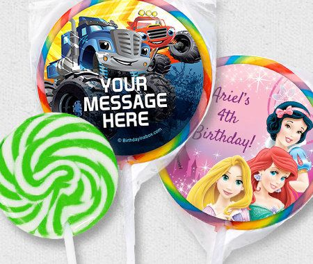 Candy Favor Containers, Party, Personalization, Lollipops