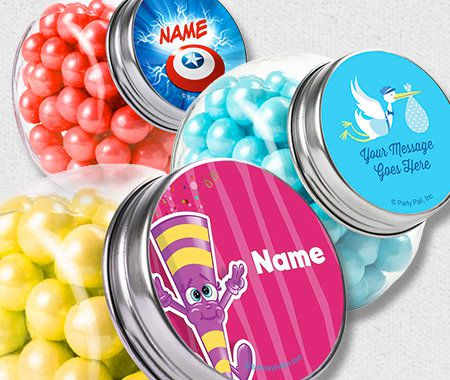 Candy Favor Containers, Party, Personalization, Plain Glass Jar