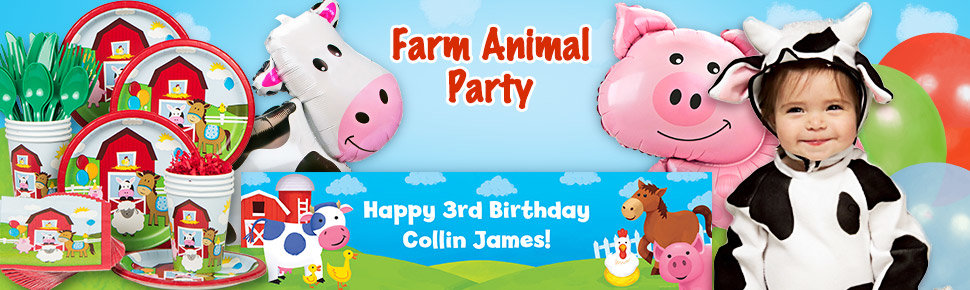 Farm Animal Kids Party Supplies Birthday In A Box
