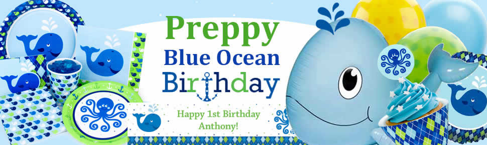 Preppy Blue Ocean Party