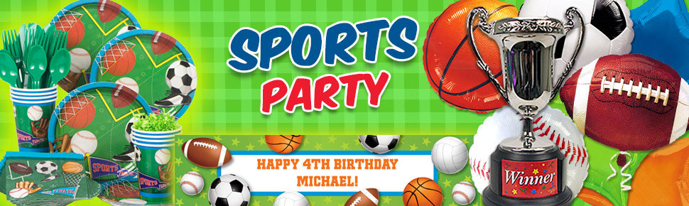 Sports Birthday Party Supplies Decorations And Ideas
