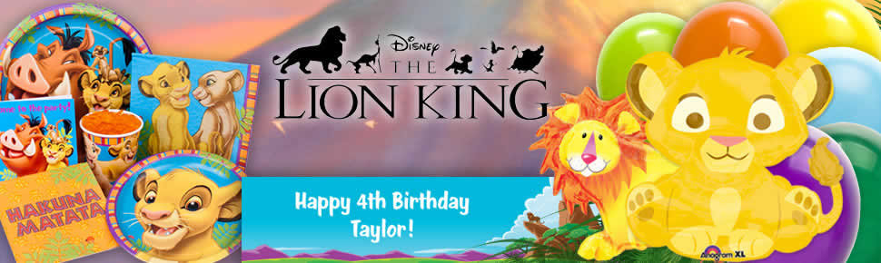 Lion King Party Ideas Disney Party Ideas At Birthday In A Box - Lion king birthday invitation template free