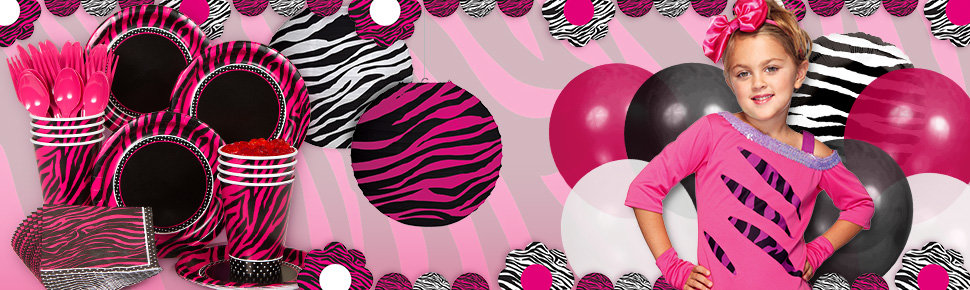 zebra party ideas | animal print party guide at birthday in a box