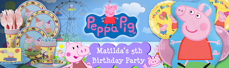 Has Your Child Caught Peppa Fever Make This Years Birthday Extra Special By Throwing A Pig Party The Loveable Little Piggy From Across Pond