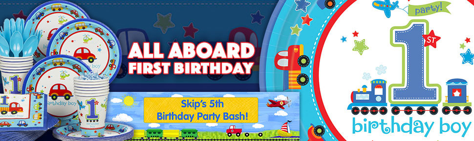 All Aboard 1st Birthday