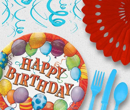 Adult, Birthday, Party, Celebration,Balloons, Cutlery, Tableware