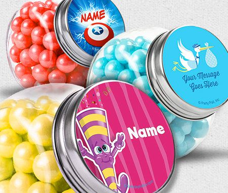 Themes, Personalization, Candy Favors, Candy Containers