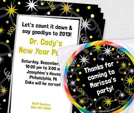 Party Themes, New Years, Personalization