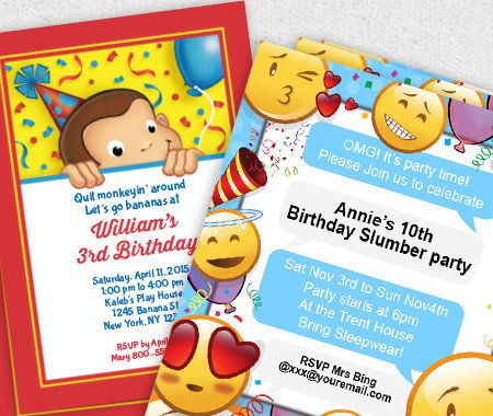 Personalization, Party,  Invitations