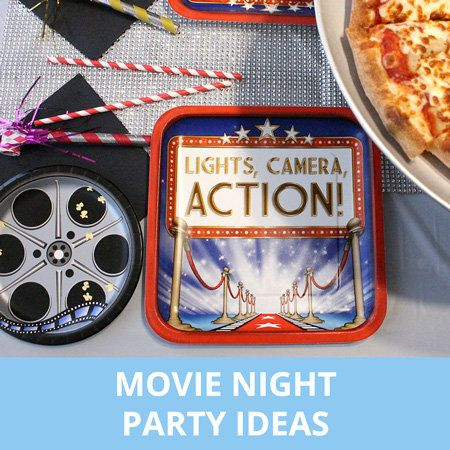 Party, Party Ideas, Kids, Movie, Movie Night