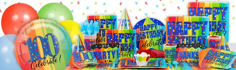 A year to celebrate 100th birthday party birthday in a box for 100th birthday decoration ideas