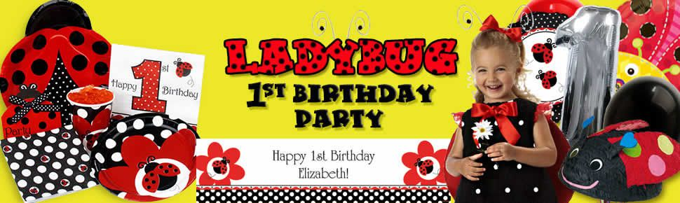 First Ladybug Birthday Party Supplies
