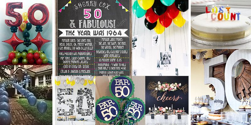 50th Birthday Theme Ideas Banner Image