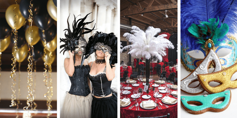 Sweet 40 Party Ideas Party Ideas From BirthdayinaBox Magnificent Elegant Masquerade Ball Decorations