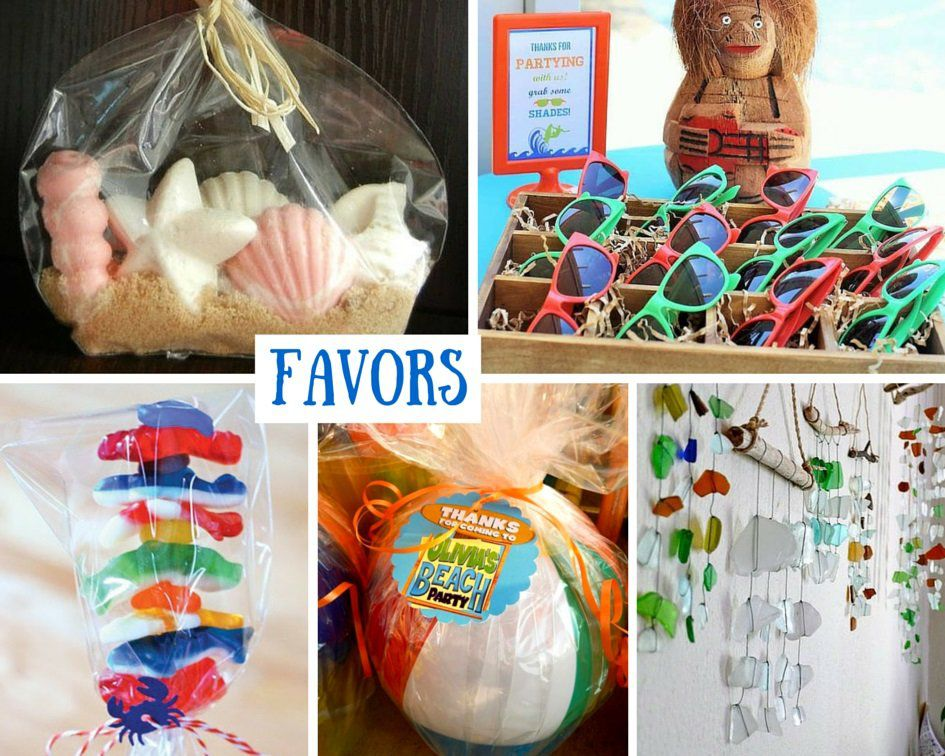 Beach Party Favor Ideas