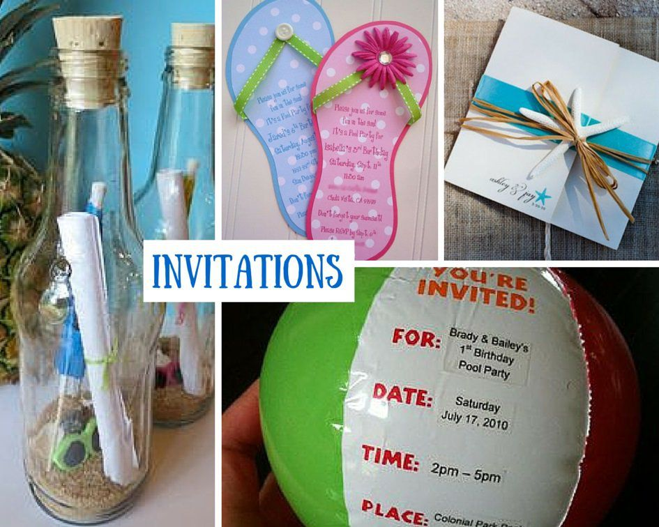 Beach Party Invitation Ideas