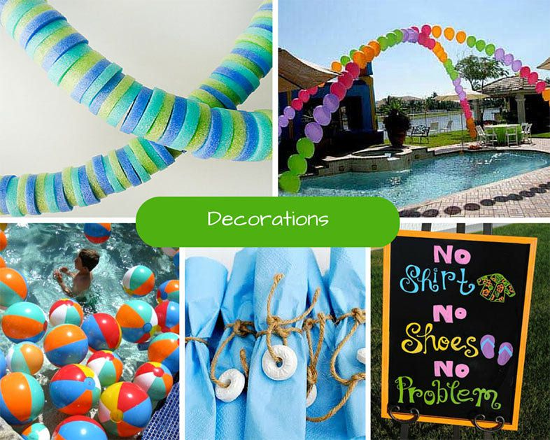 Pool Party Decorations Ideas 14 awesome pool party decoration ideas for kids birthday parties children will love these cool Thoughtful Decor Will Ensure The Wow Factor For Your Pool Party