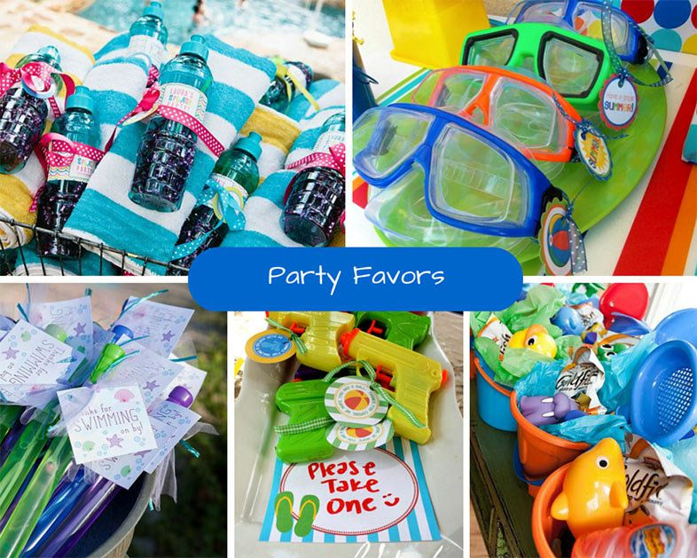 Pool Party Favors Ideas evite summer party ideas kids pool party favors Make Sure Your Guests Leave With A Token That Will Remind Them Of The Fun Day They Just Spent In The Pool With You