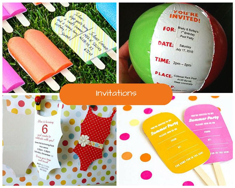 Choose A Specific Theme For Your Pool Party Consider By Choosing One Of These Fun Variations