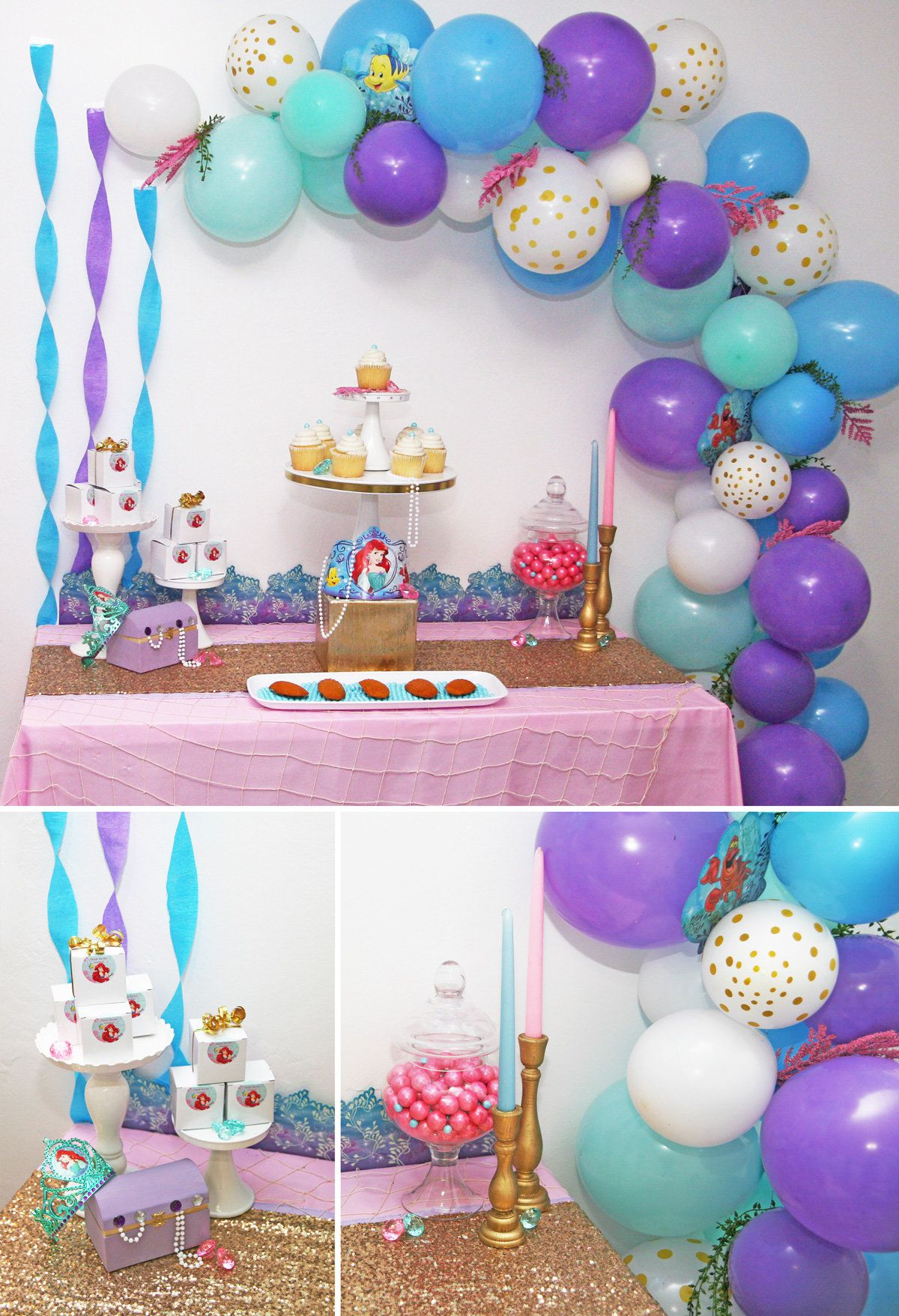 73 mermaid party ideas little mermaid party ideas for Ariel birthday decoration ideas