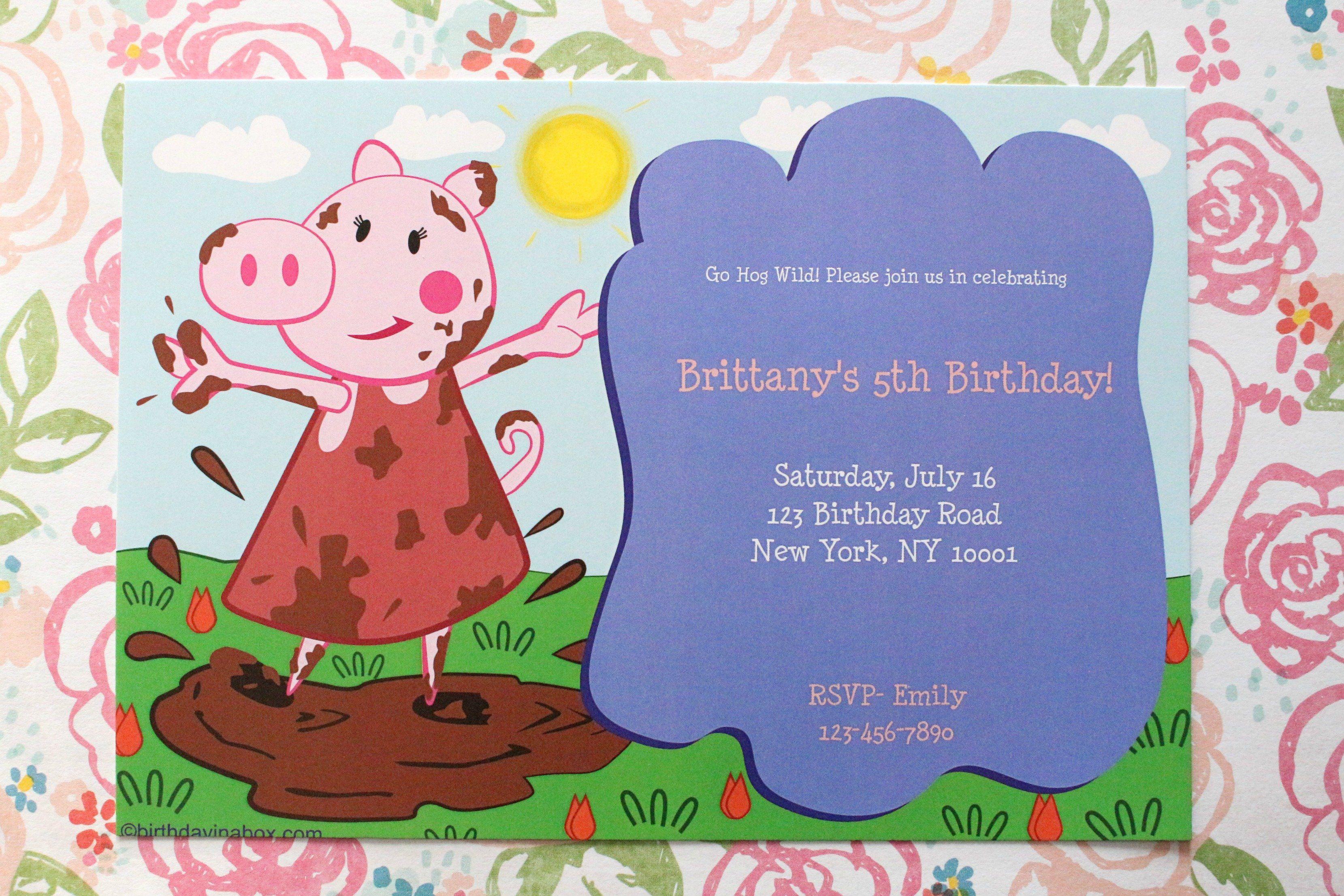 Peppa Pig Party Invitation Ideas