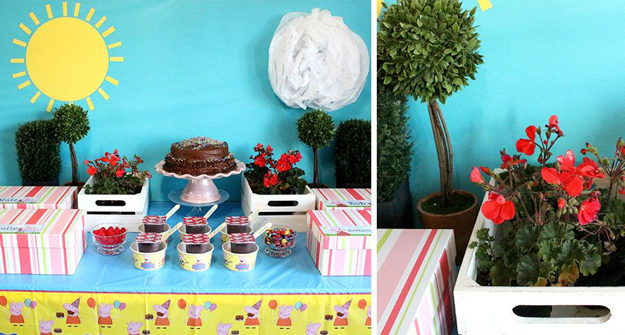 DIY Peppa Pig Party Decorations