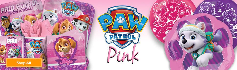Throw Your Princess An Adorable Bash With The Theme Paw Patrol A Girly Twist Join Everest Skye And Rest Of Furry Gang These Items From