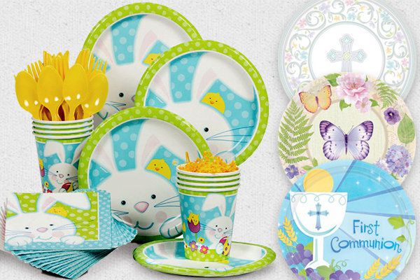 easter spring tableware - Spring Party Decorating Ideas