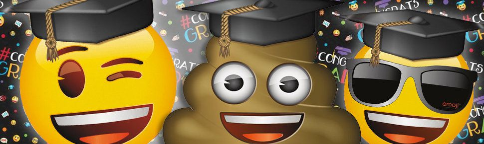 Emoji Graduatio Party Supplies