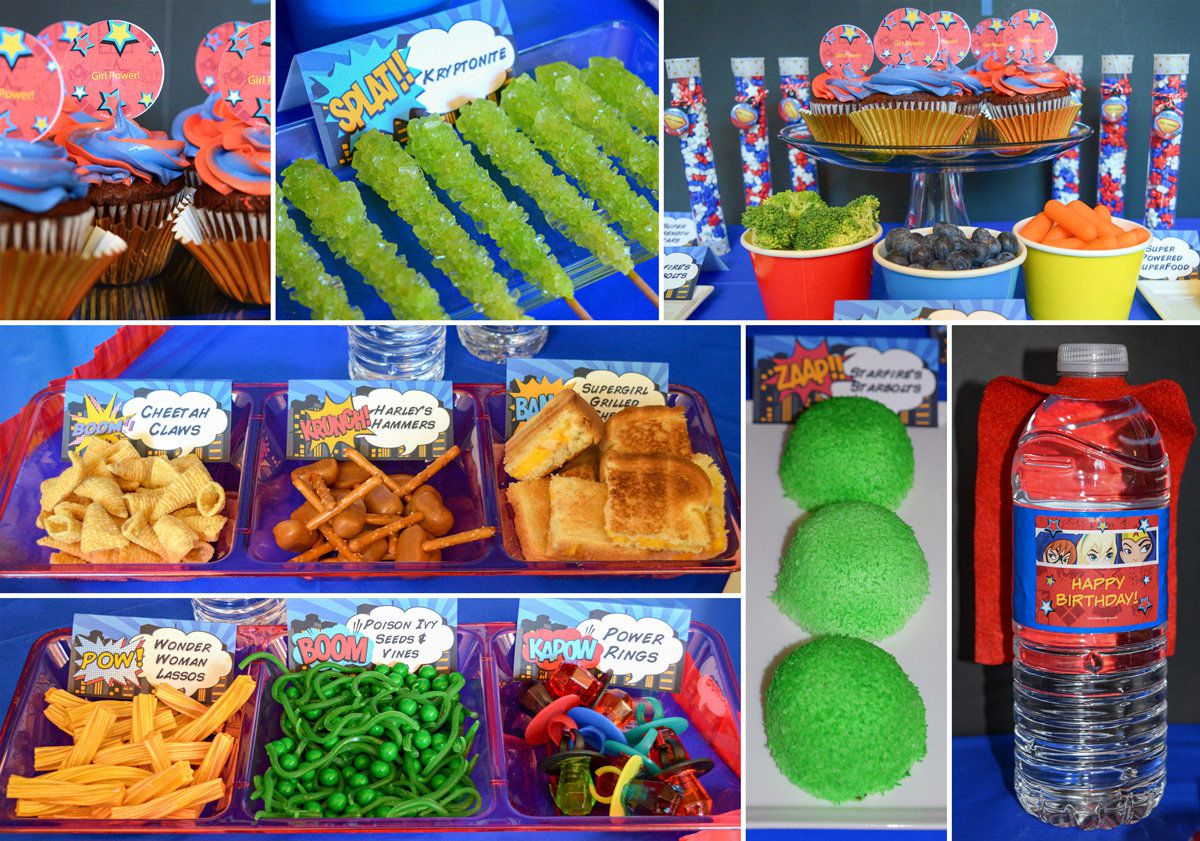 DC Superhero Girls Party Food
