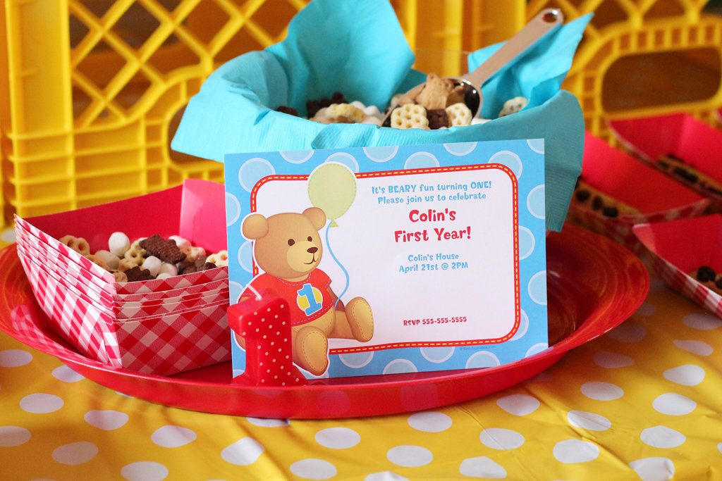 Teddy Bear Picnic Invitations