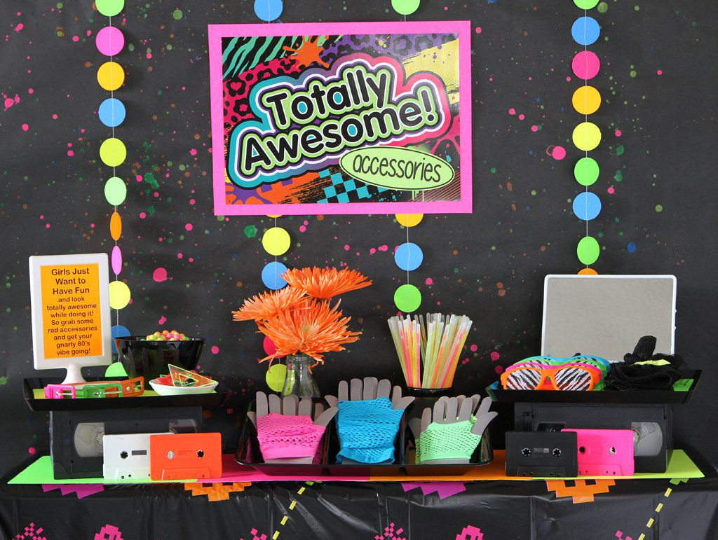 80 80s theme party idea for 80 birthday party decoration ideas