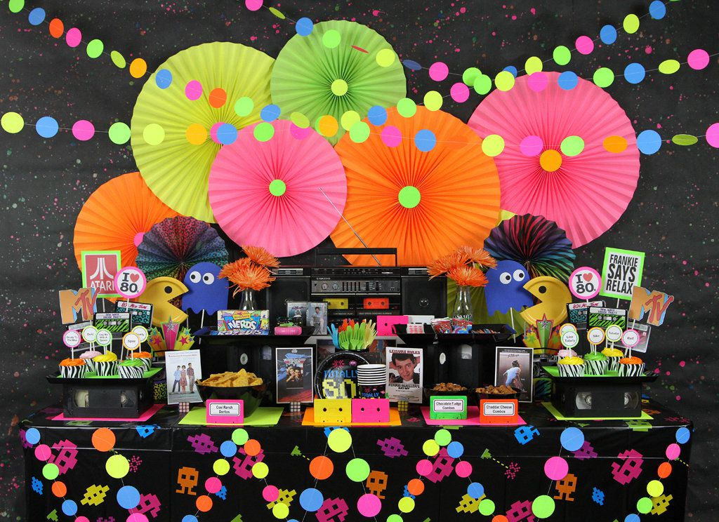 80s party ideas kids party ideas at birthday in a box for 80 theme party decoration ideas