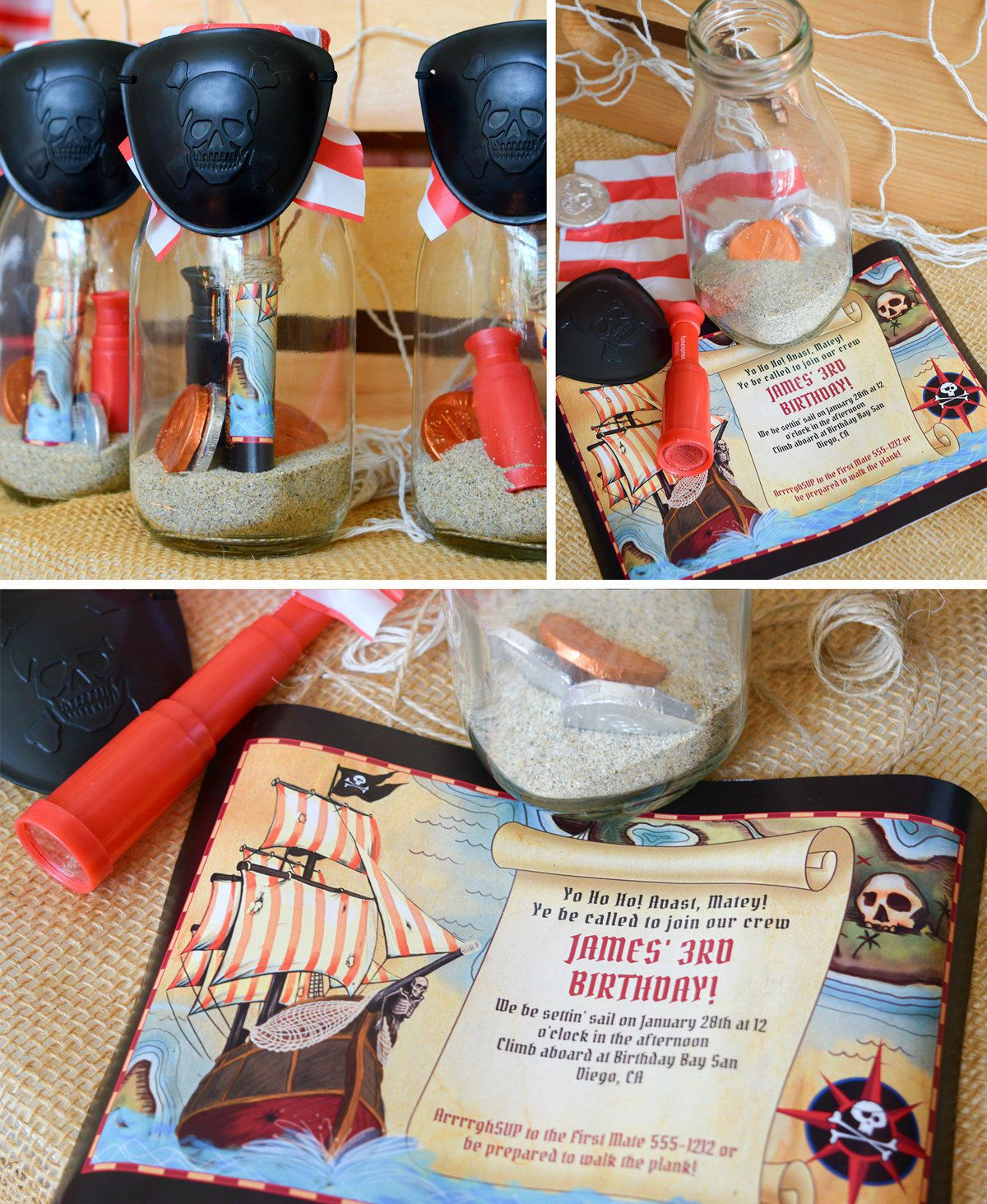 Pirate Party Pirate Birthday Party Ideas at Birthday in a Box – Pirate Party Invite
