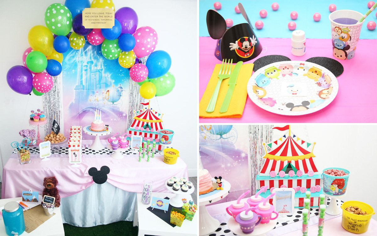 Disney Theme Decorations Disney Birthday Ideas And Games Disney Parties At Birthday In A Box