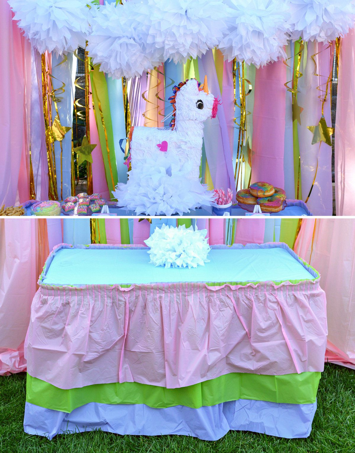 Party Planning Invitations Unicorn Table