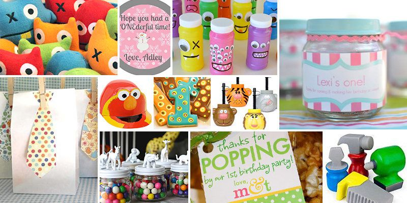 1st Birthday Party Favor Ideas
