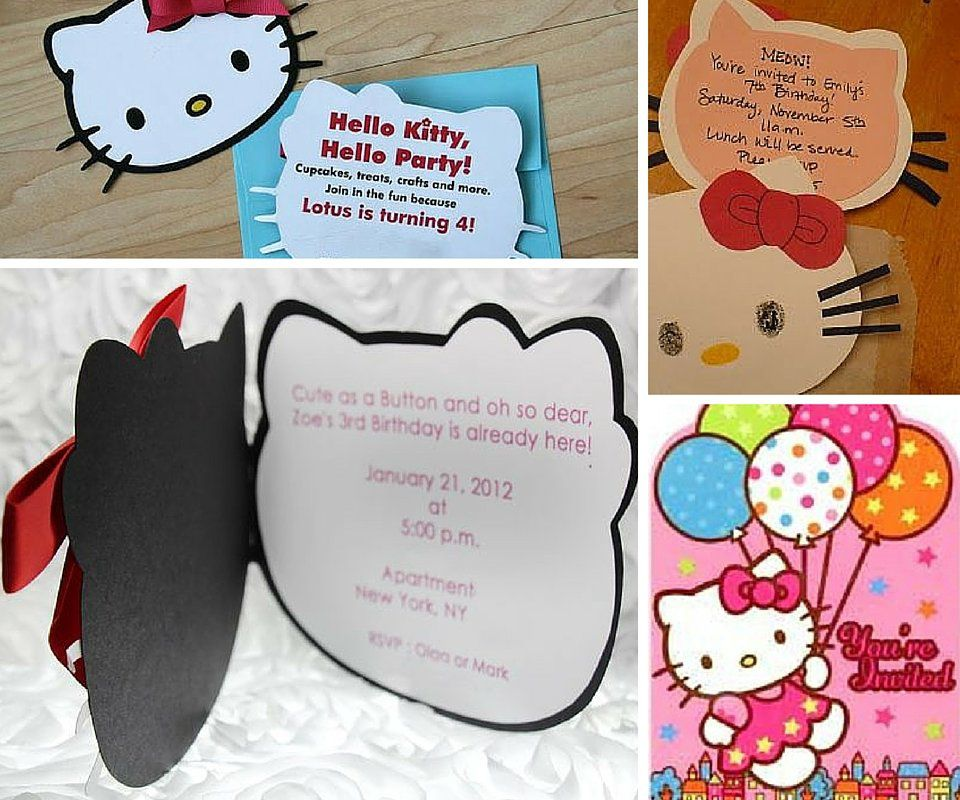 Hello Kitty Party Invitations