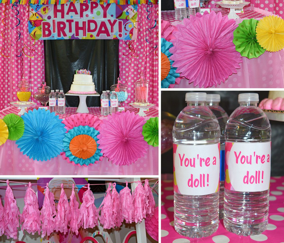 Shower Room Ideas Barbie Party Ideas Glamour Party Ideas At Birthday In A Box