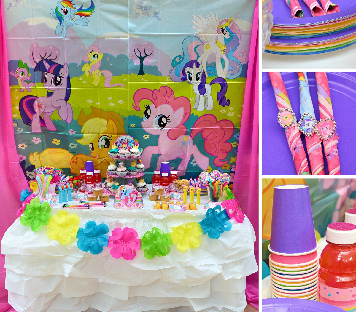 My little pony birthday party crafts - My Little Pony Decorations