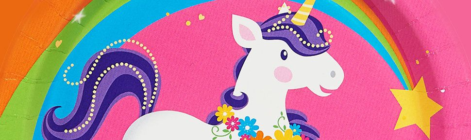 Unicorn Party Supplies - Birthday, Decorations, Invitations