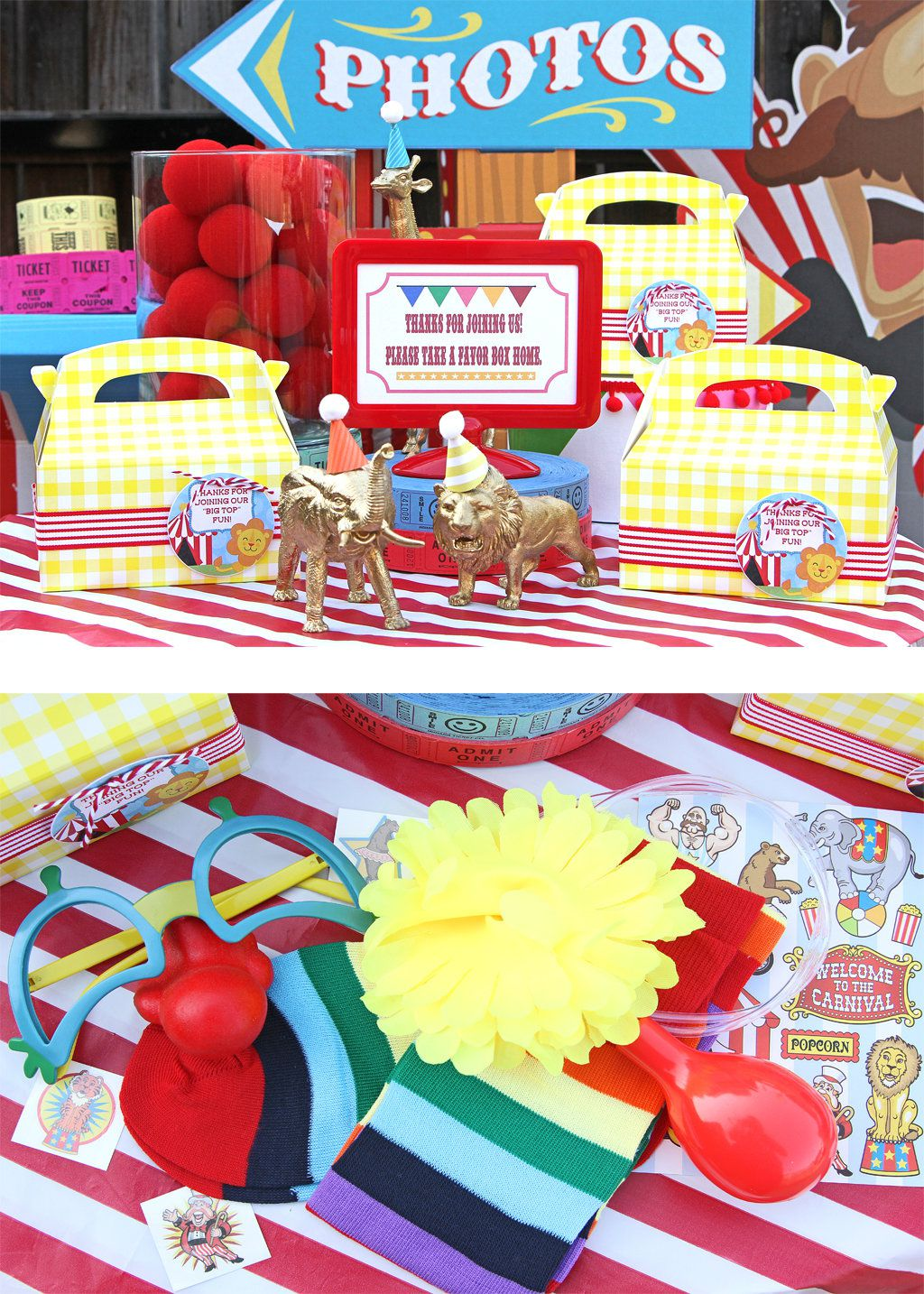 Circus Party Favor Ideas