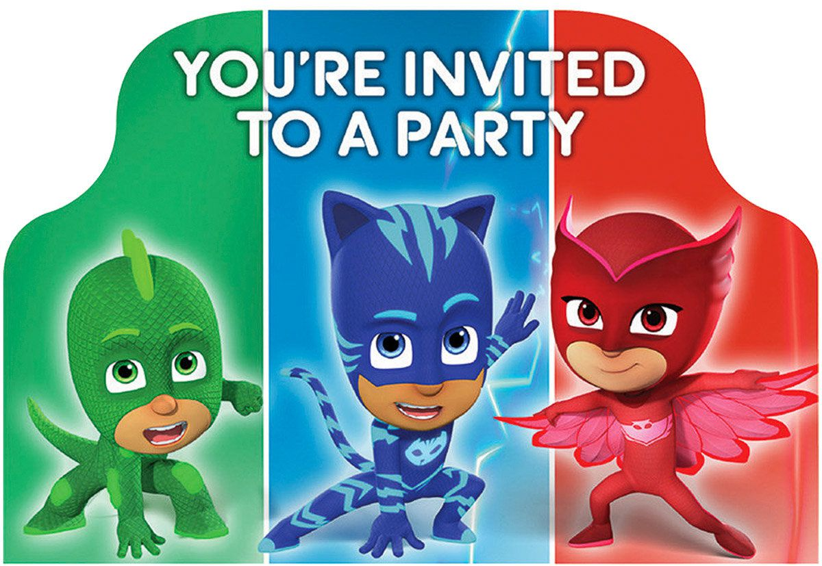 PJ Masks Party Invite