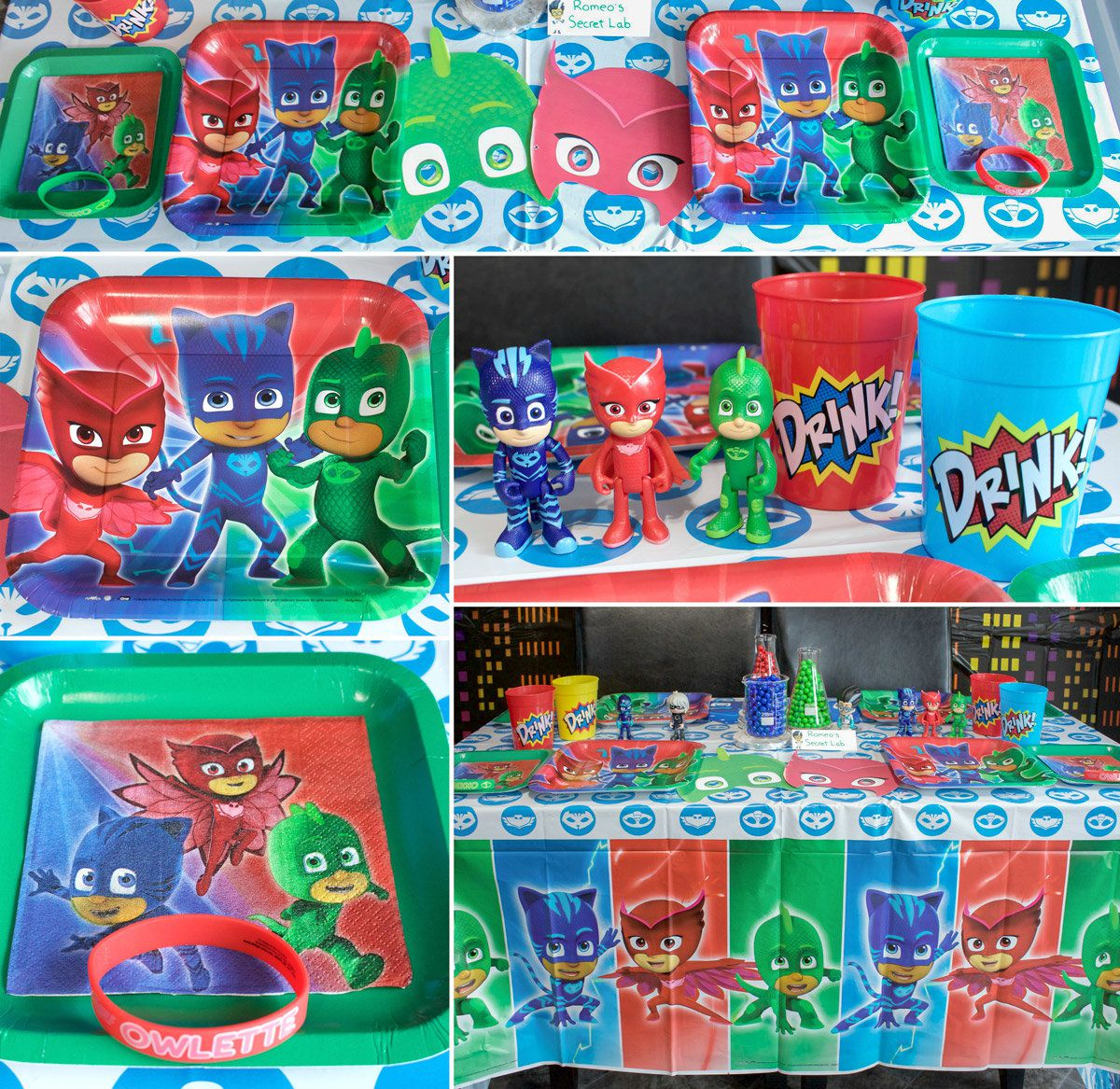 PJ Masks Party Table Setting