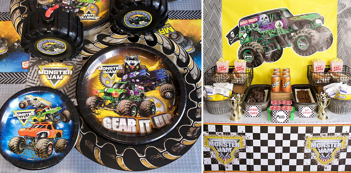 Monster Jam Party Supplies For Birthdays Birthday In A Box